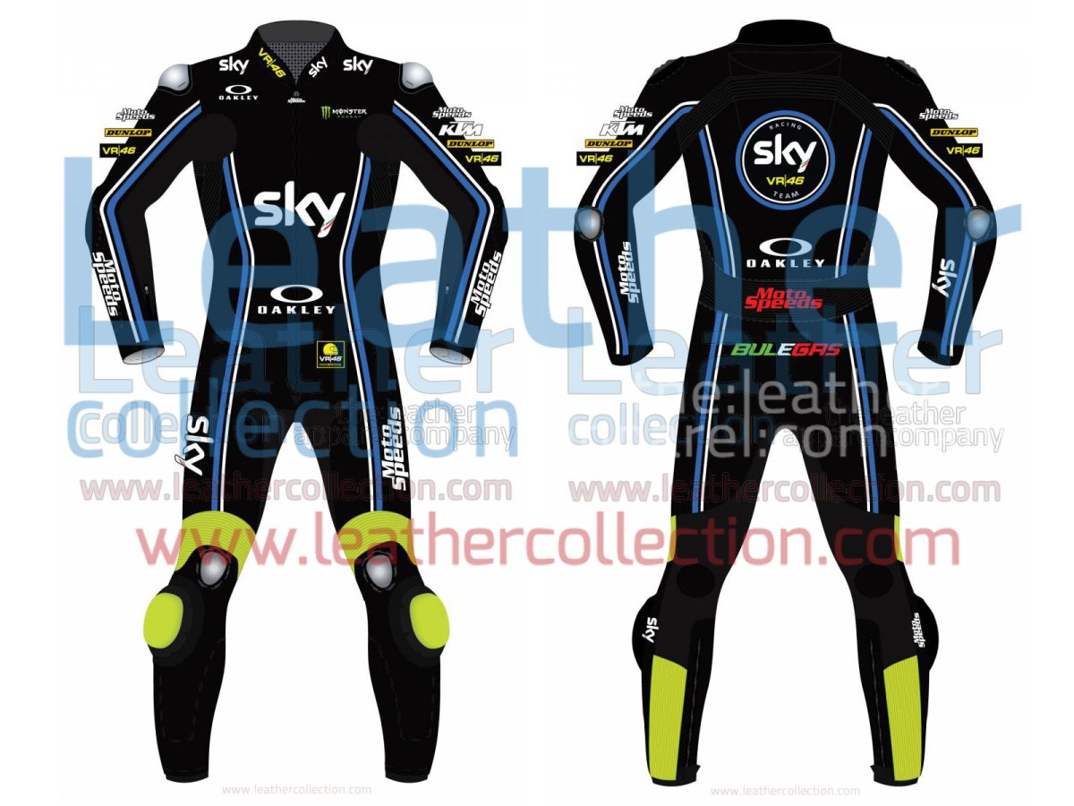 VR46 Riders Academy Sky Team 2017 Race Suit – Leather Collection
